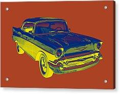 1957 Chevy Bel Air Car Pop Art  Acrylic Print