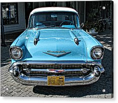 1957 Chevy Bel Air In Turquoise Acrylic Print