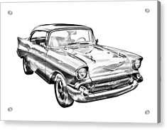 1957 Chevy Bel Air Illustration Acrylic Print