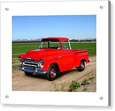 1957 Chevrolet 3100 Pick Up Truck Acrylic Print by Jack Pumphrey