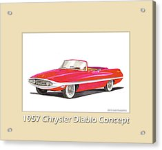1957 Chrysler Diablo Convertible Coupe Acrylic Print by Jack Pumphrey