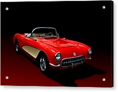 1957 Corvette Acrylic Print by Tim McCullough