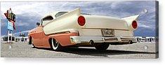 1957 Ford Fairlane Lowrider Acrylic Print by Mike McGlothlen