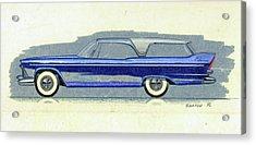 1957 Plymouth Cabana  Station Wagon Styling Design Concept Sketch Acrylic Print by John Samsen