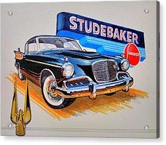 1957 Studebaker Golden Hawk Acrylic Print