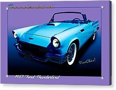 1957 Thunderbird Poster Acrylic Print
