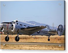 Acrylic Print featuring the photograph 1957 Twin Beech E185 Take Off N5867 by John King