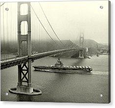 1957 Uss Hancock In San Francisco Acrylic Print