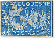 1958 Battle Of Fort Duquesne Stamp Acrylic Print