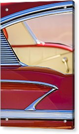1958 Chevrolet Belair Abstract Acrylic Print by Jill Reger