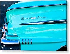 1958 Chevrolet Belair Tail Emblem Acrylic Print by Jill Reger
