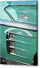 1958 Chevrolet Impala Emblem Acrylic Print by Jill Reger
