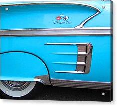 1958 Chevrolet Impala Acrylic Print by Sven Migot