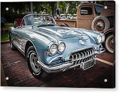 1958 Chevy Corvette Painted Acrylic Print