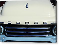 1958 Dodge Sweptside Truck Grille Acrylic Print