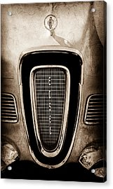 1958 Edsel Pacer Grille Emblem - Hood Ornament Acrylic Print by Jill Reger