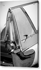 1958 Plymouth Fury Golden Commando Taillight Emblem -3467bw Acrylic Print
