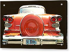 1958 Pontiac Bonneville Acrylic Print by Diana Angstadt
