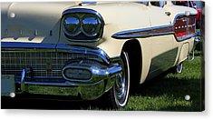 1958 Pontiac Strato Chief Acrylic Print by Davandra Cribbie