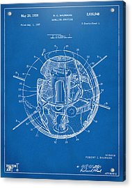 1958 Space Satellite Structure Patent Blueprint Acrylic Print by Nikki Marie Smith
