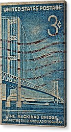 1958 The Mighty Mac Stamp Acrylic Print