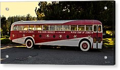 1958 Tour Bus Acrylic Print by George Bostian