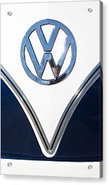 1958 Volkswagen Vw Bus Emblem Acrylic Print