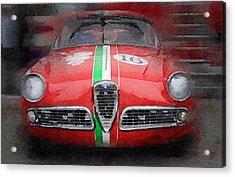 1959 Alfa Romeo Giulietta Watercolor  Acrylic Print by Naxart Studio