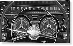 Acrylic Print featuring the photograph 1959 Buick Lasabre Steering Wheel by Jill Reger