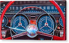 1959 Buick Lesabre Steering Wheel Acrylic Print by Jill Reger