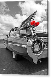 1959 Cadillac Tail Fins Acrylic Print by Gill Billington