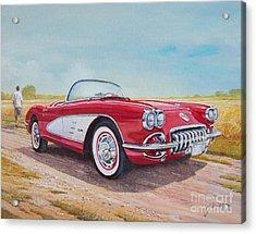 1959 Chevrolet Corvette Cabriolet Acrylic Print