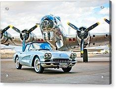 1959 Chevrolet Corvette Acrylic Print by Jill Reger