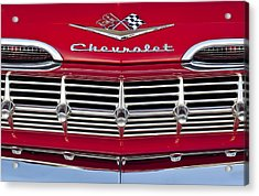 1959 Chevrolet Grille Ornament Acrylic Print by Jill Reger