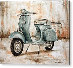 1959 Douglas Vespa Acrylic Print by Joey Agbayani