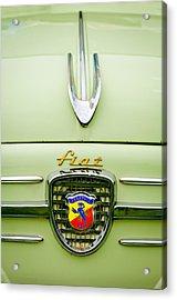 1959 Fiat 600 Derivazione 750 Abarth Hood Ornament Acrylic Print by Jill Reger