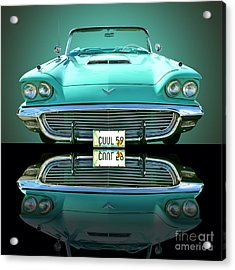 1959 Ford T Bird Acrylic Print by Jim Carrell