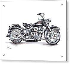 1959 Harley Davidson Panhead Acrylic Print by Shannon Watts