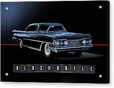 1959 Oldsmobile Custom I Acrylic Print by Dave Koontz