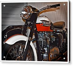 1959 Triumph Motorcycle Acrylic Print by Steve Benefiel