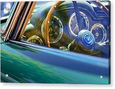 1960 Aston Martin Db4 Series II Steering Wheel Acrylic Print by Jill Reger