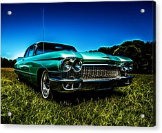 1960 Cadillac Coupe De Ville Acrylic Print by motography aka Phil Clark