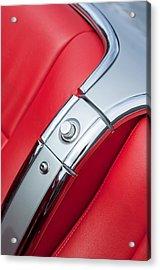 1960 Chevrolet Corvette Compartment Acrylic Print by Jill Reger