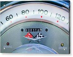 1960 Chevrolet Corvette Speedometer Acrylic Print by Jill Reger