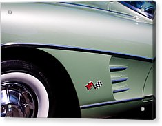 1960 Chevy Corvette Acrylic Print by David Patterson