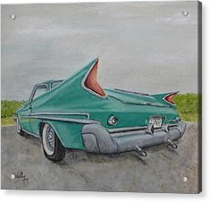 1960 Classic Saratoga Chrysler Acrylic Print by Kelly Mills