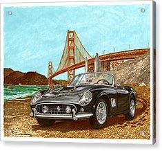 1960 Ferrari 250 California G T Acrylic Print by Jack Pumphrey