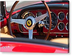 1960 Ferrari 250 Gt Cabriolet Pininfarina Series II Steering Wheel Emblem Acrylic Print by Jill Reger