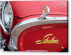 1960 Ford Galaxie Starliner Hood Ornament - Emblem Acrylic Print by Jill Reger