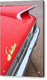 1960 Ford Galaxie Starliner Taillight Emblem Acrylic Print by Jill Reger
